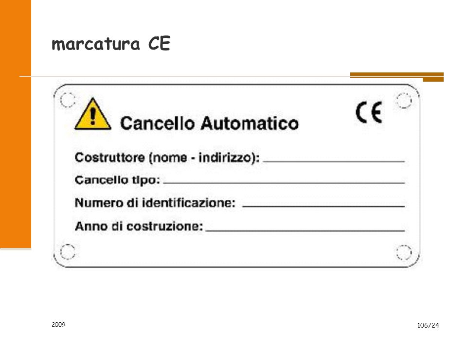 marcatura CE 2009