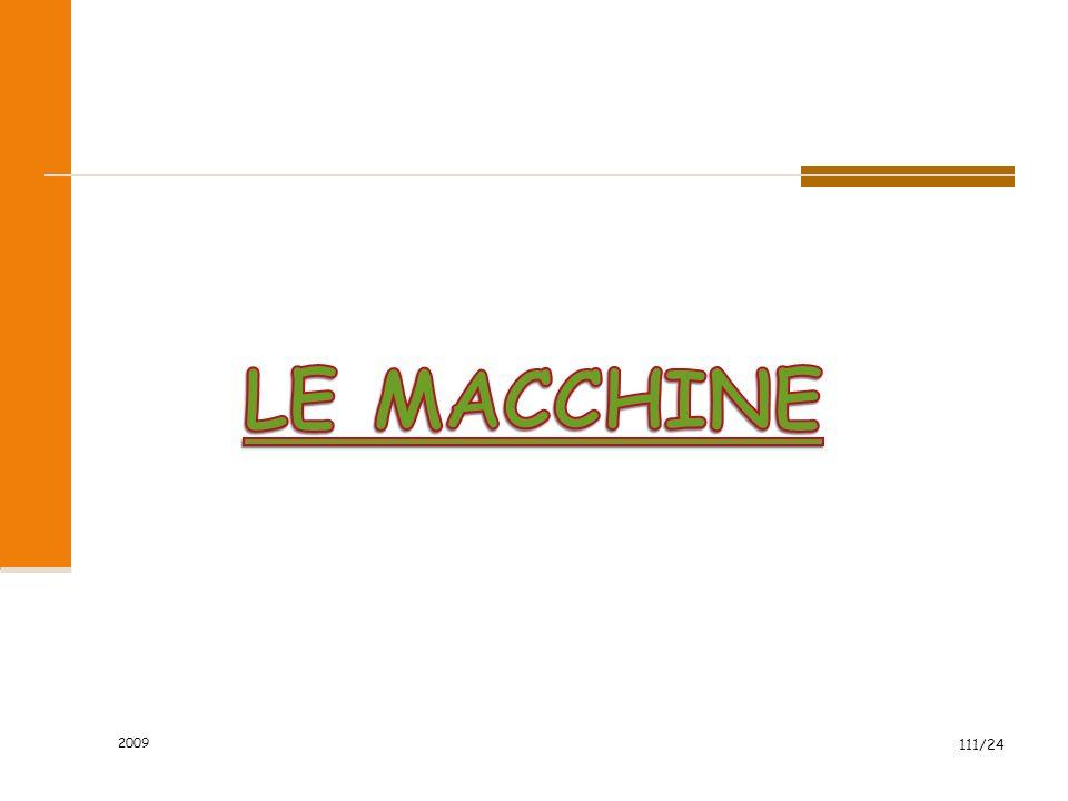 LE MACCHINE 2009