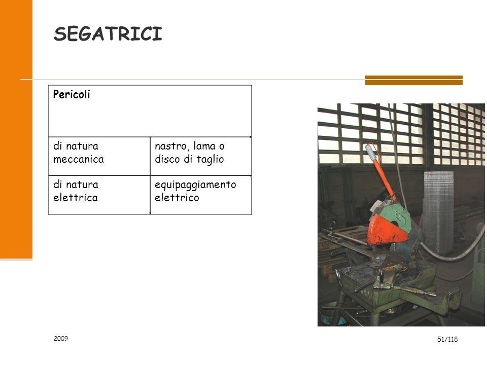 SEGATRICI Pericoli di natura meccanica nastro, lama o disco di taglio