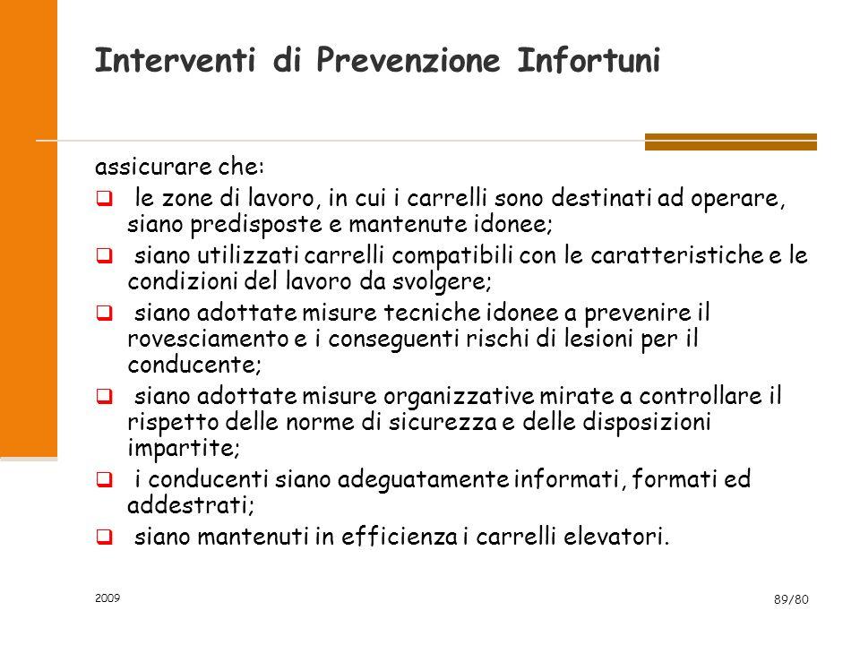 Interventi di Prevenzione Infortuni