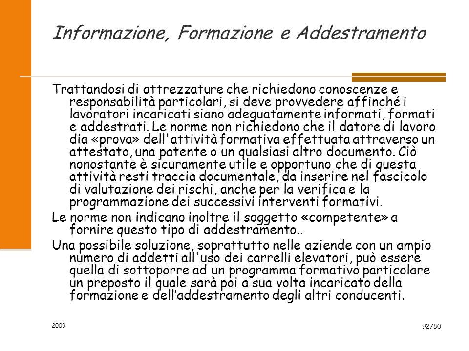Informazione, Formazione e Addestramento