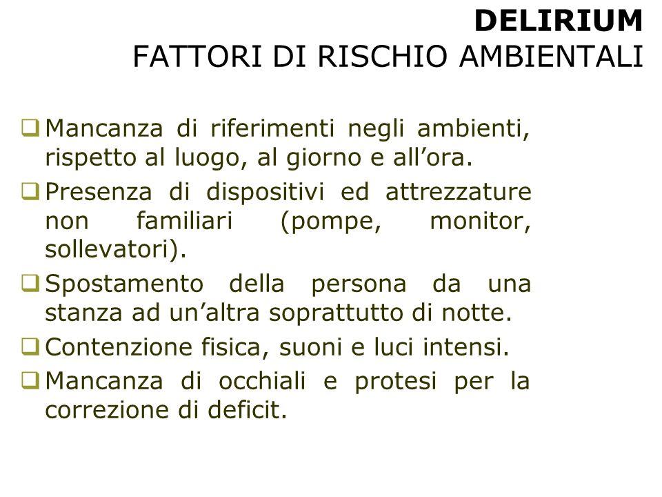 DELIRIUM FATTORI DI RISCHIO AMBIENTALI
