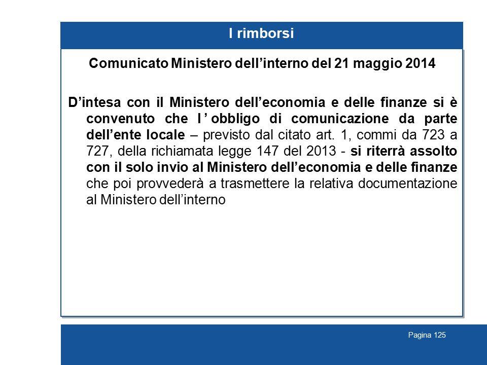 Comunicato Ministero dell'interno del 21 maggio 2014