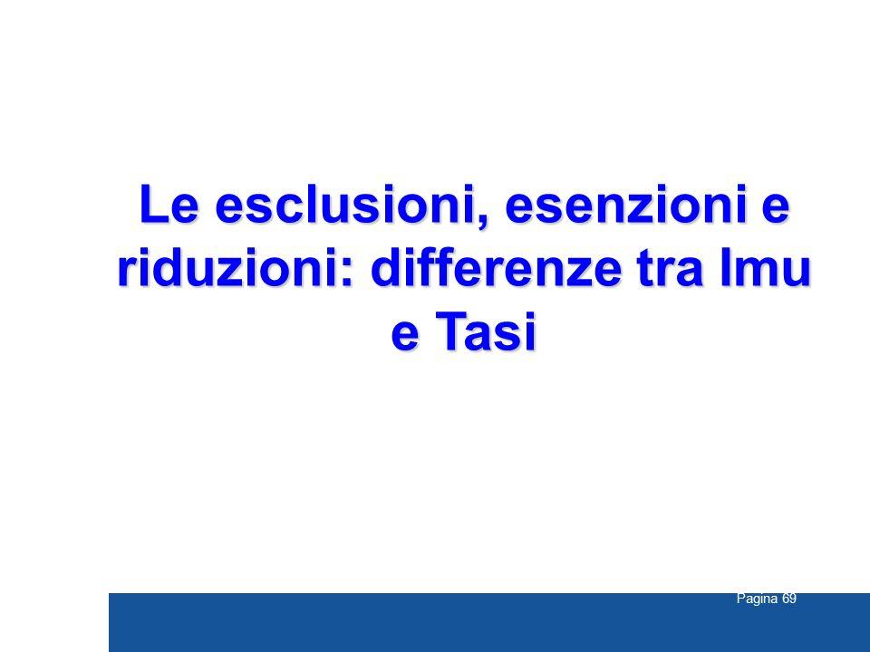 Le esclusioni, esenzioni e riduzioni: differenze tra Imu e Tasi