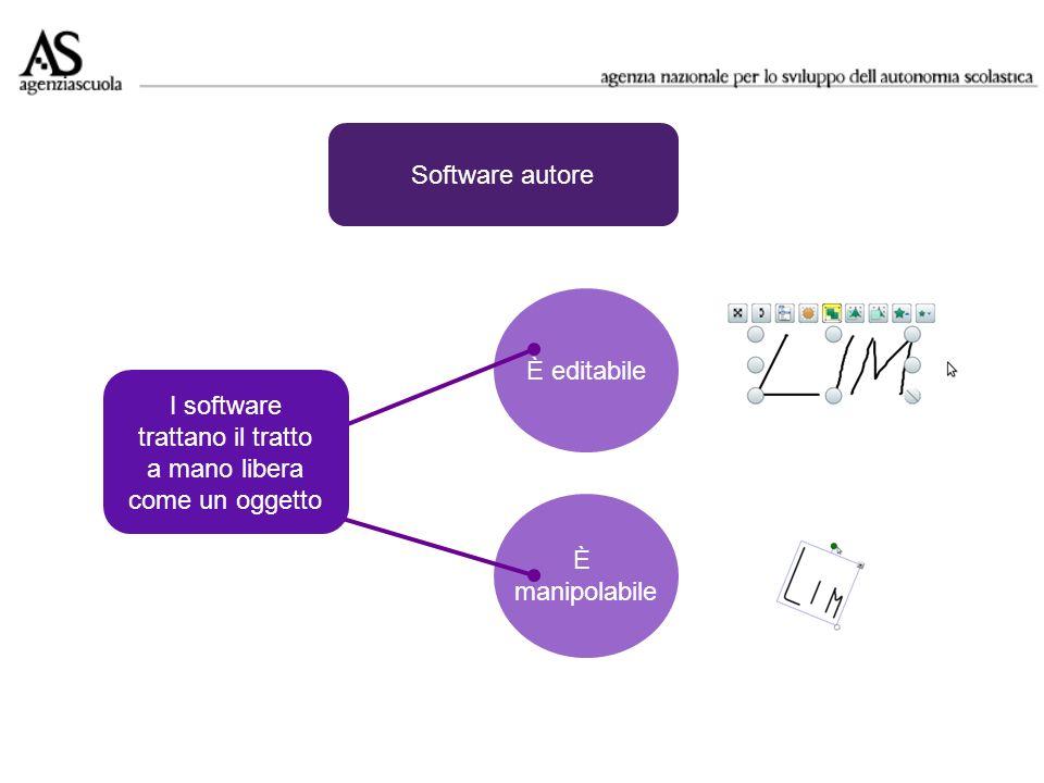 Software autore È editabile. I software. trattano il tratto. a mano libera. come un oggetto. È.