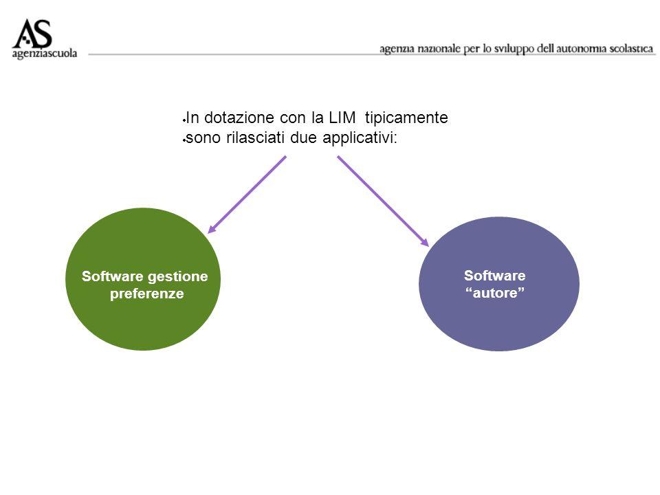 In dotazione con la LIM tipicamente sono rilasciati due applicativi:
