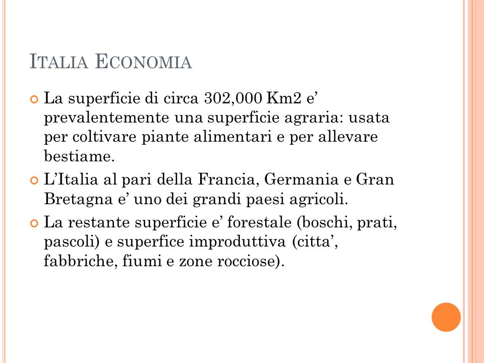 Italia Economia