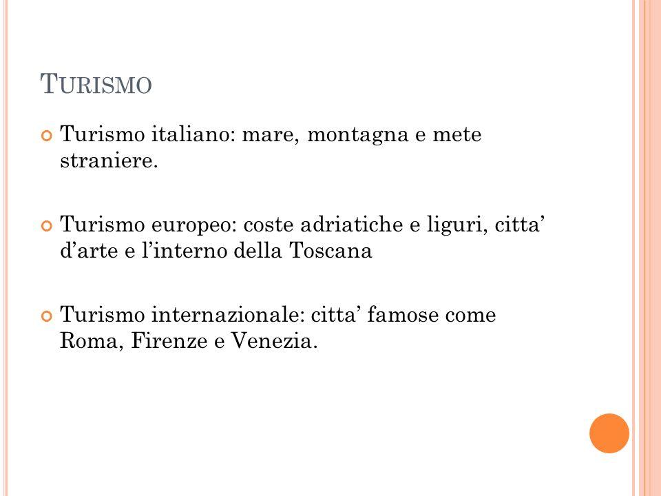 Turismo Turismo italiano: mare, montagna e mete straniere.