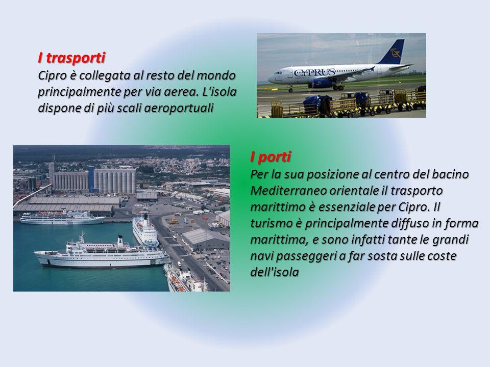 I trasporti Cipro è collegata al resto del mondo principalmente per via aerea. L isola dispone di più scali aeroportuali.