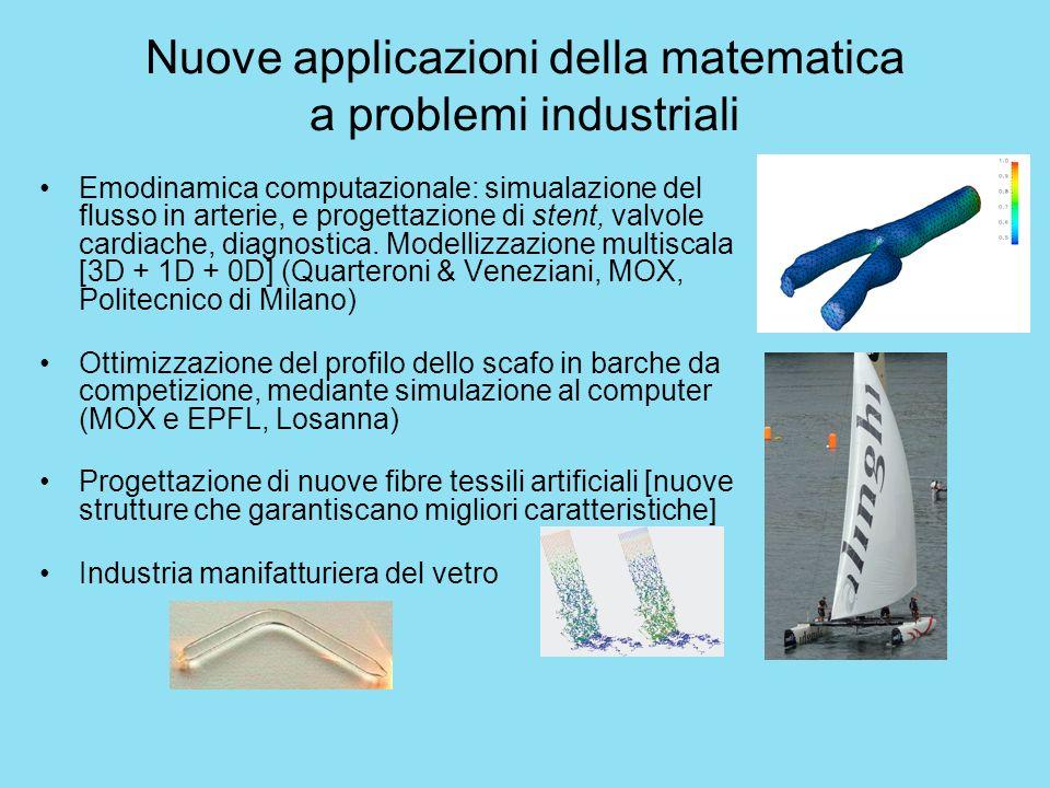 Nuove applicazioni della matematica a problemi industriali