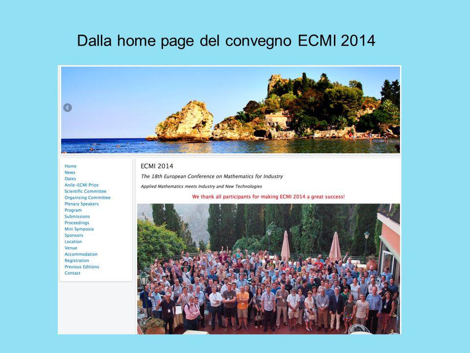 Dalla home page del convegno ECMI 2014