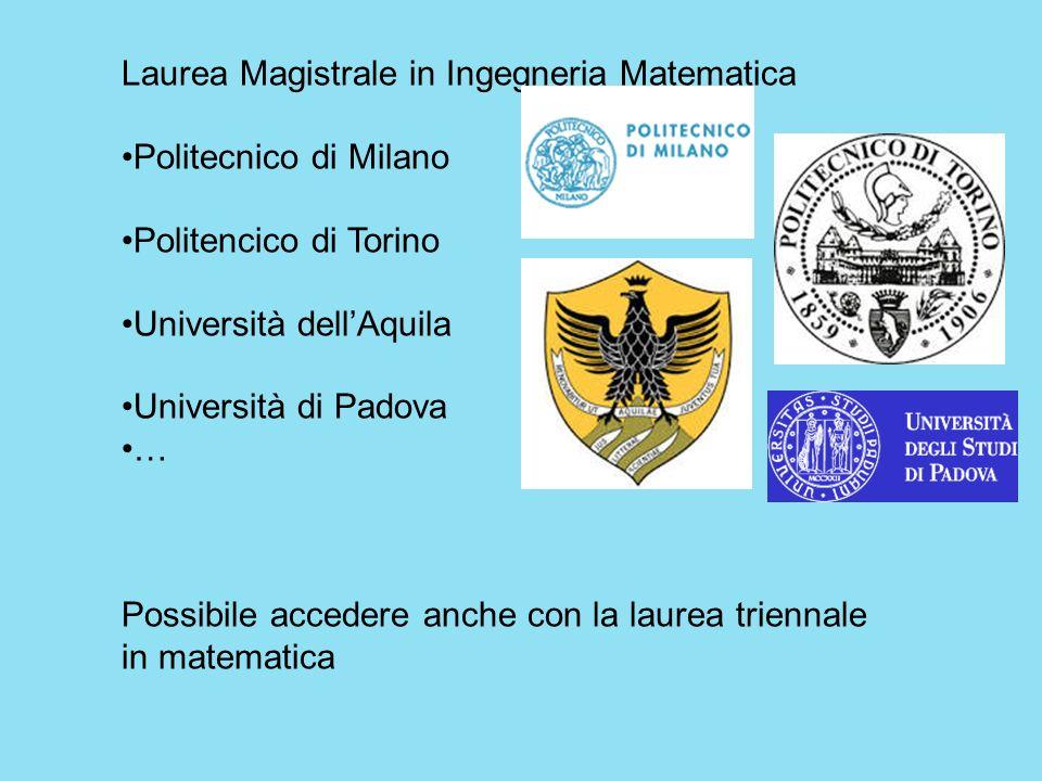 Laurea Magistrale in Ingegneria Matematica