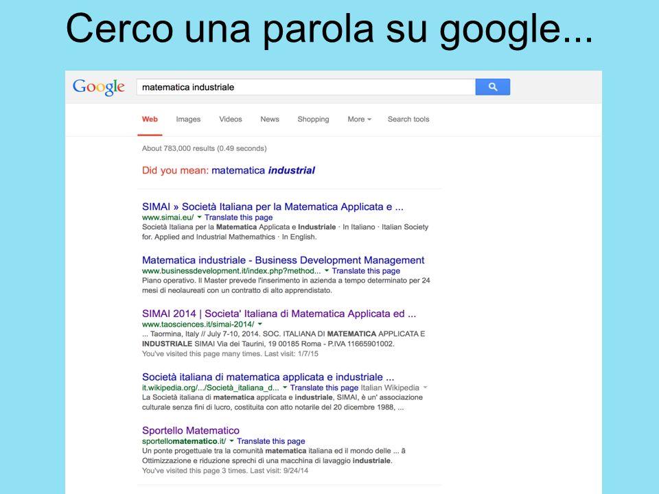 Cerco una parola su google...