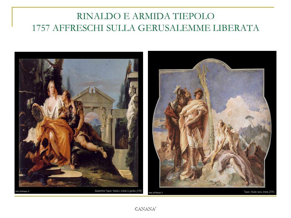 RINALDO E ARMIDA TIEPOLO 1757 AFFRESCHI SULLA GERUSALEMME LIBERATA