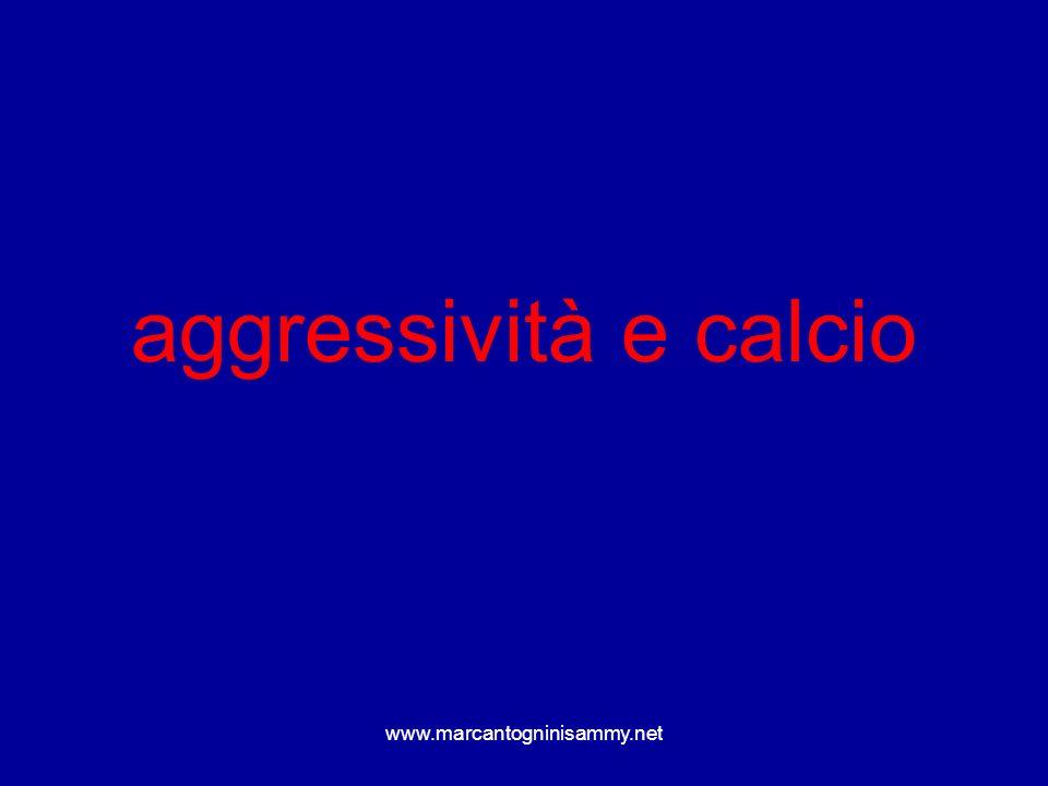 aggressività e calcio www.marcantogninisammy.net