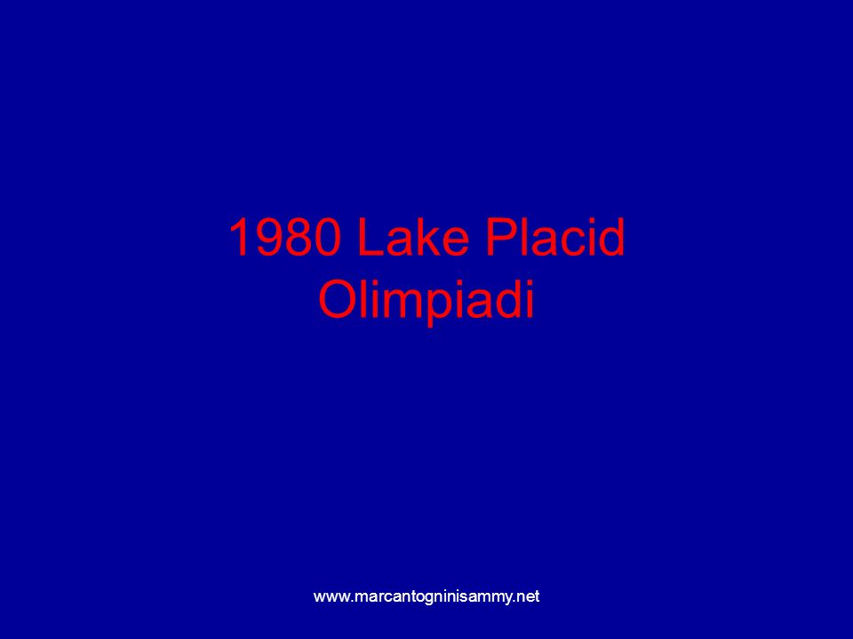1980 Lake Placid Olimpiadi