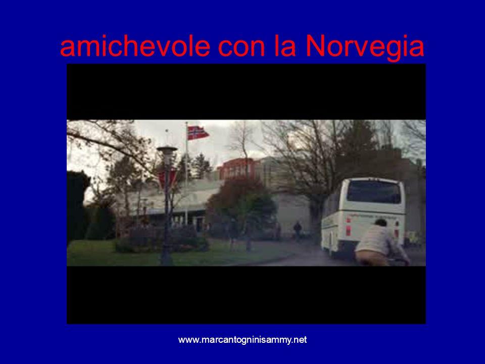 amichevole con la Norvegia
