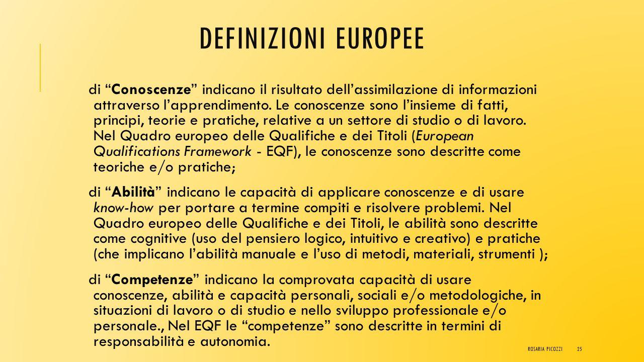 definizioni europee