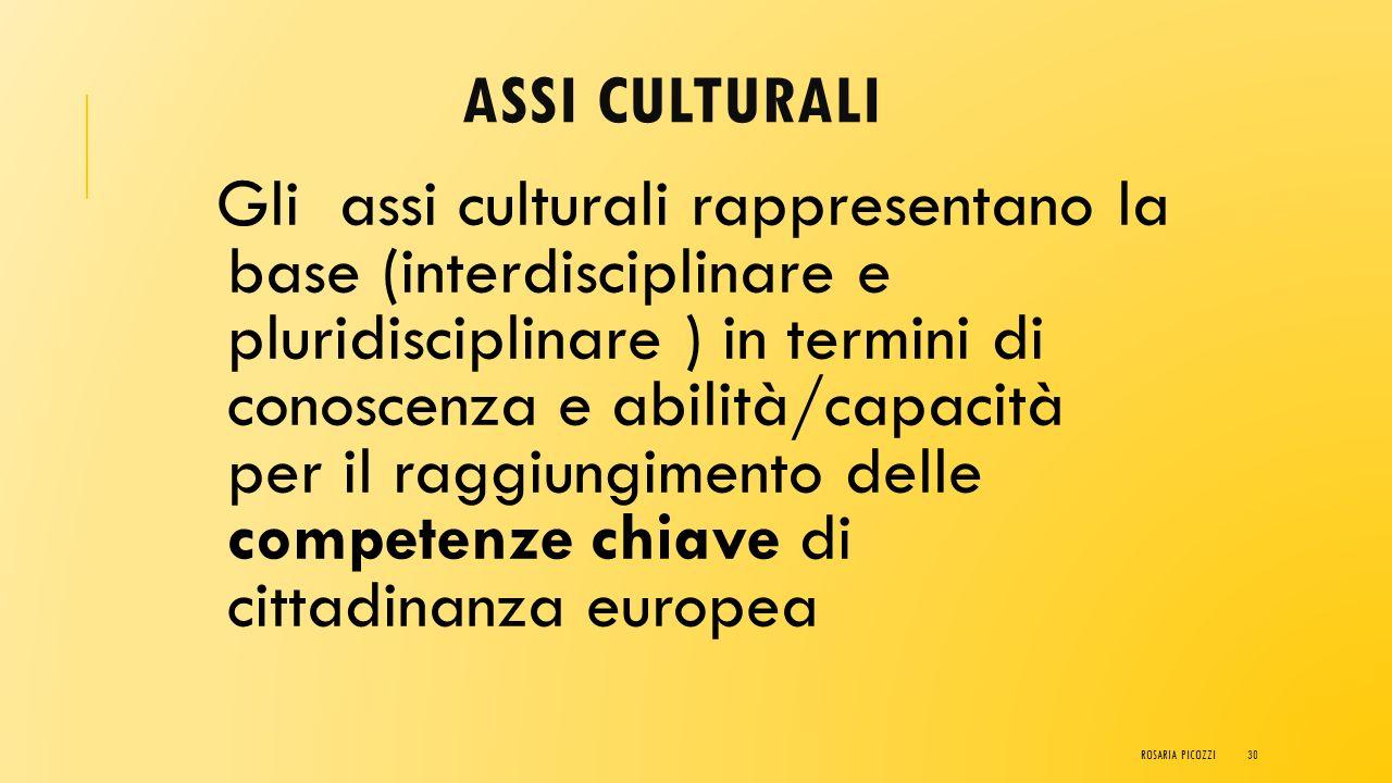 ASSI CULTURALI