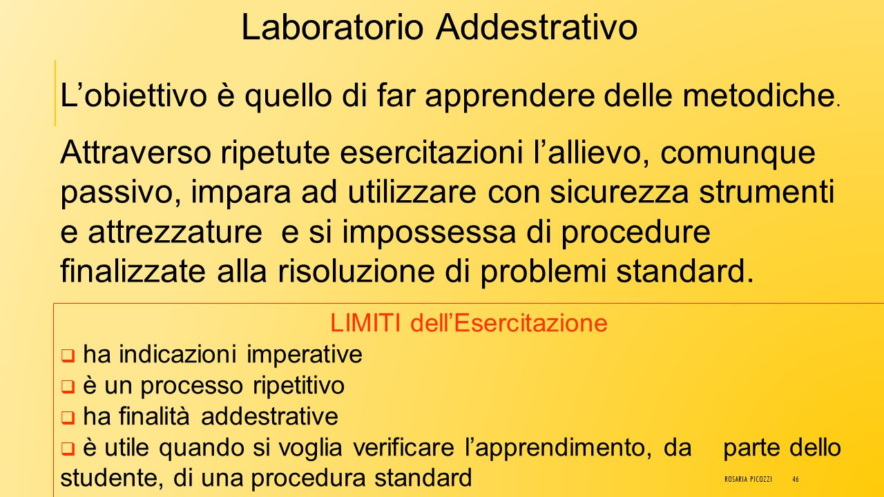 Laboratorio Addestrativo