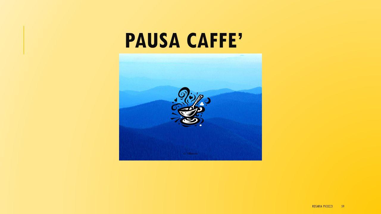 PAUSA CAFFE' Rosaria Picozzi