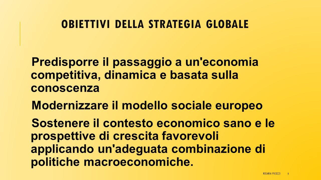 Obiettivi della strategia globale
