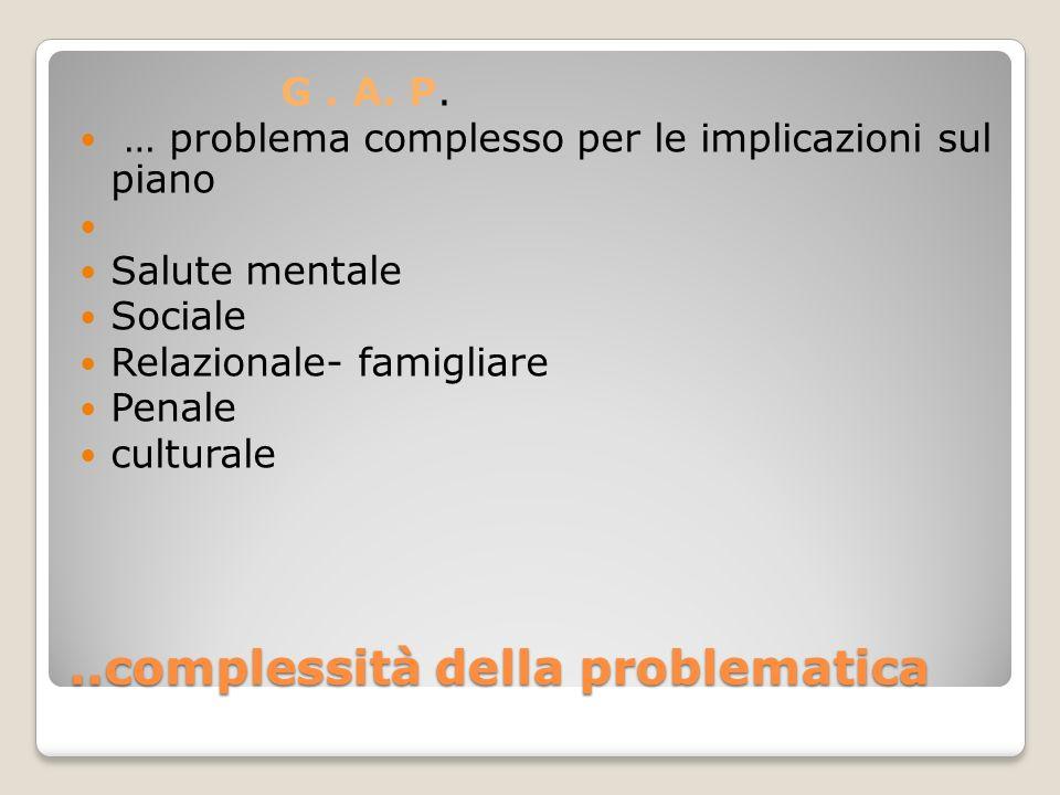 ..complessità della problematica