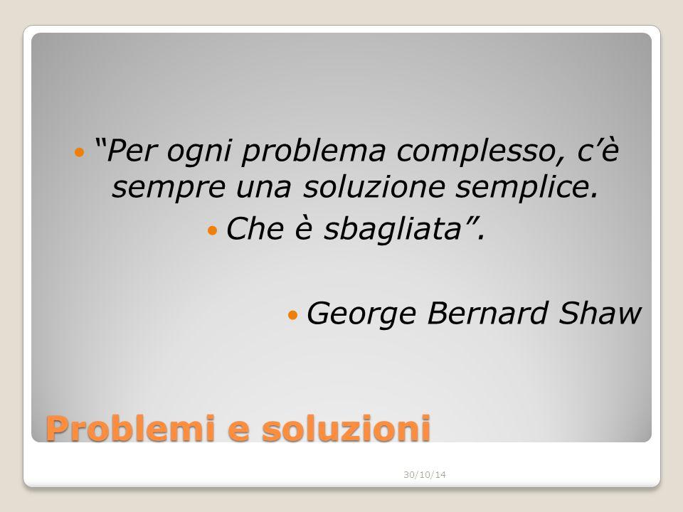 Per ogni problema complesso, c'è sempre una soluzione semplice.