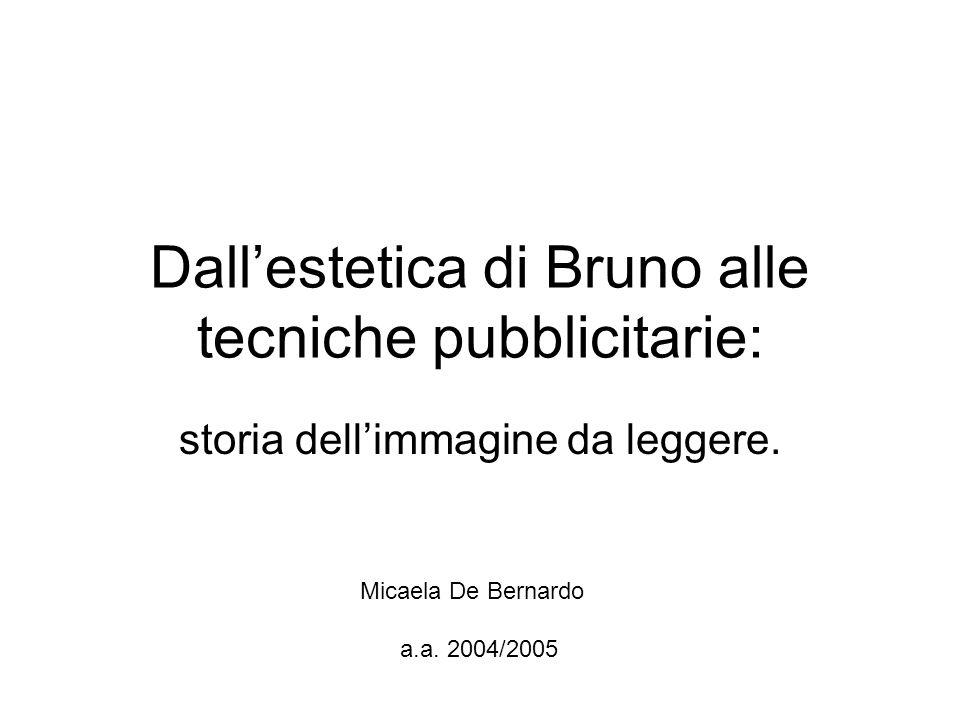 Dall'estetica di Bruno alle tecniche pubblicitarie: