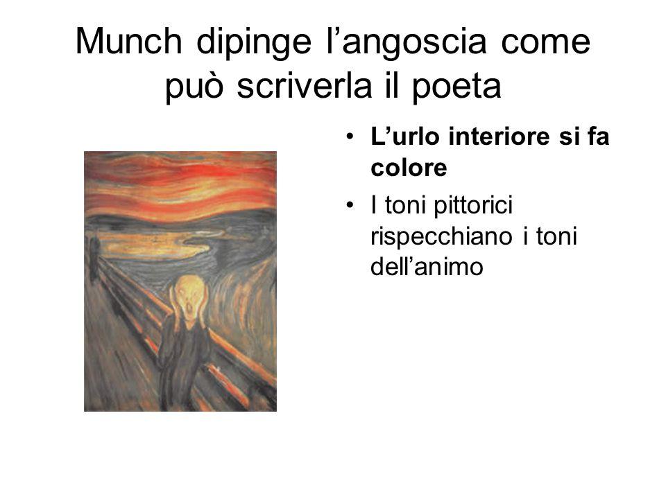 Munch dipinge l'angoscia come può scriverla il poeta