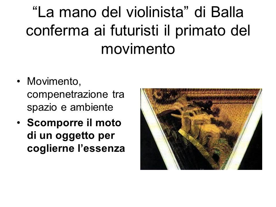 La mano del violinista di Balla conferma ai futuristi il primato del movimento