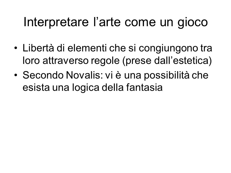Interpretare l'arte come un gioco