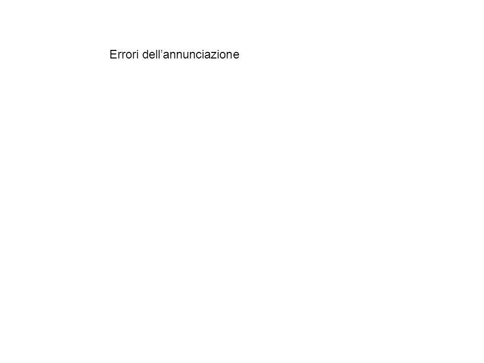 Errori dell'annunciazione