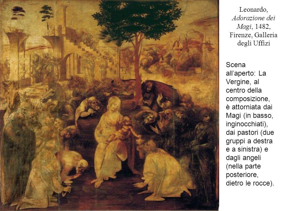 Leonardo, Adorazione dei Magi, 1482, Firenze, Galleria degli Uffizi