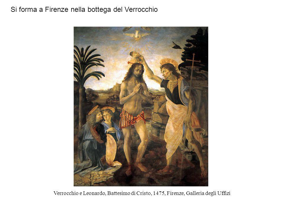 Si forma a Firenze nella bottega del Verrocchio