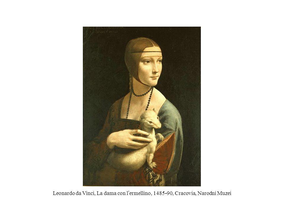Leonardo da Vinci, La dama con l'ermellino, 1485-90, Cracovia, Narodni Muzei