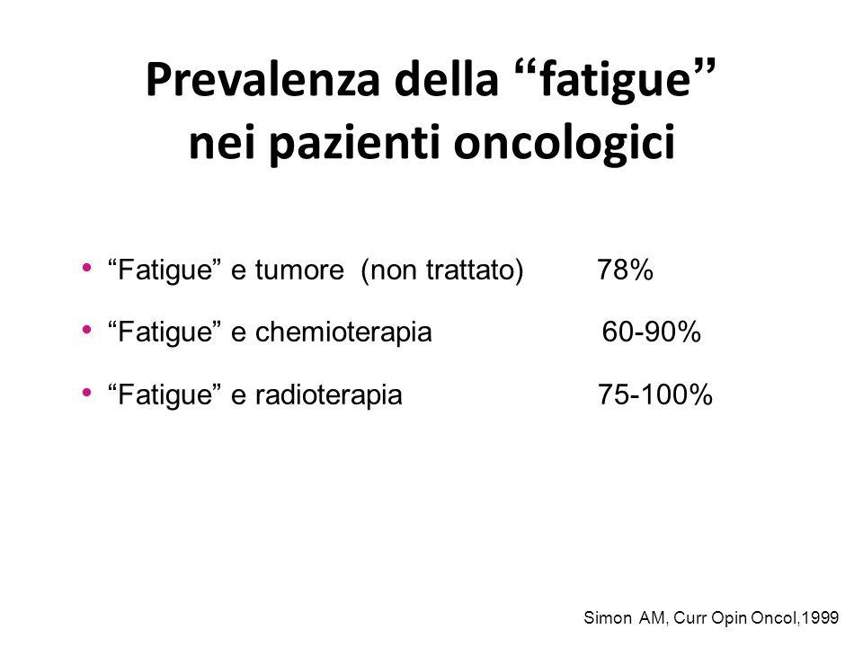 Prevalenza della fatigue nei pazienti oncologici