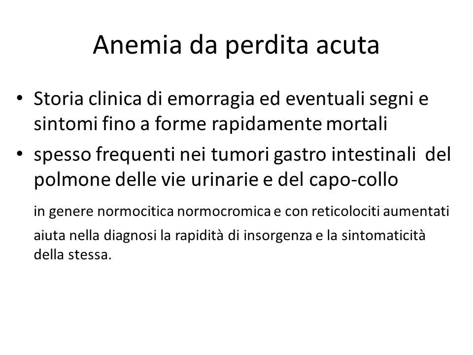 Anemia da perdita acuta