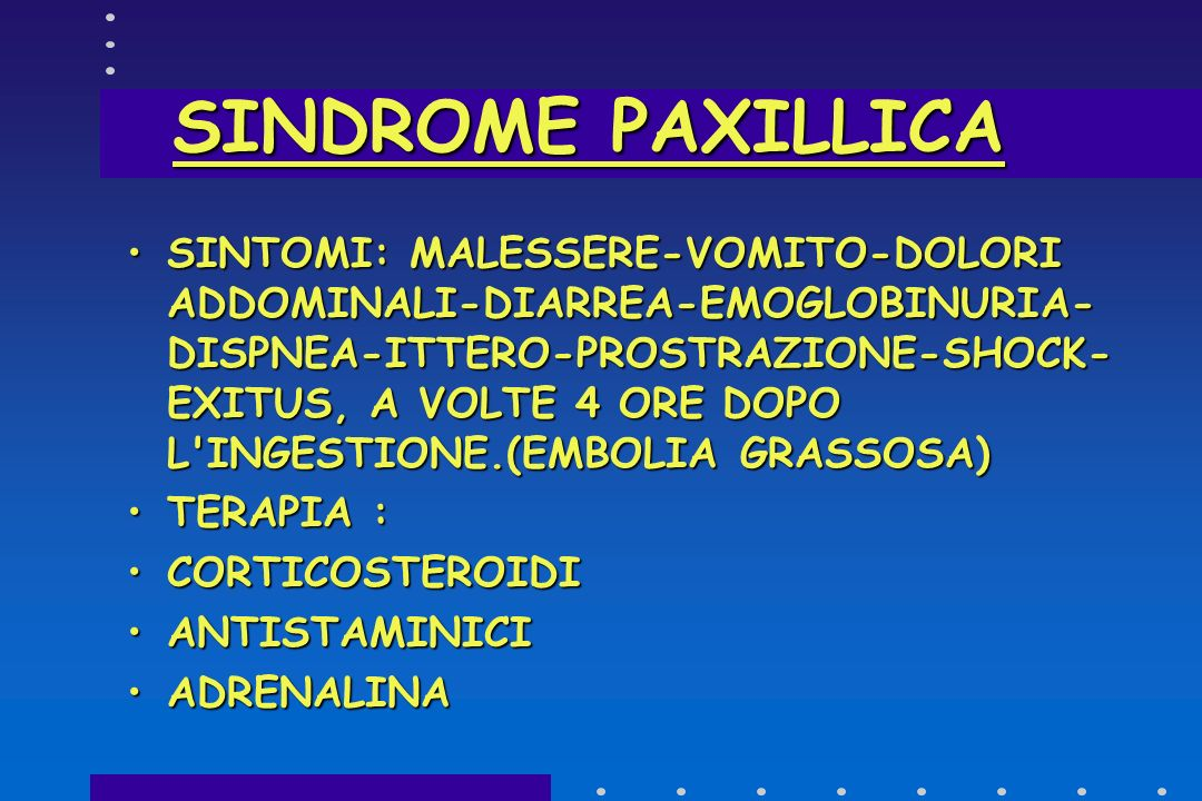 SINDROME PAXILLICA