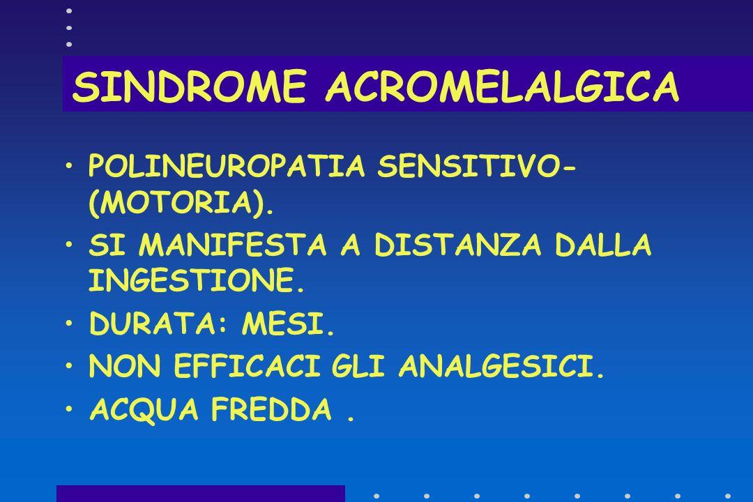 SINDROME ACROMELALGICA