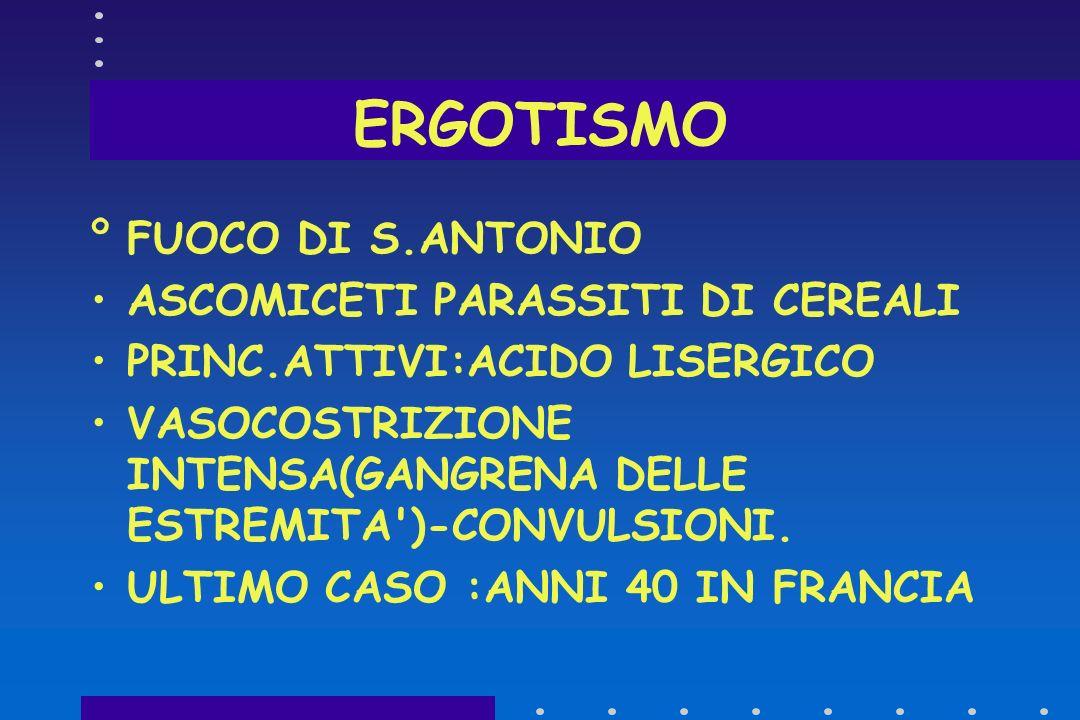 ERGOTISMO FUOCO DI S.ANTONIO ASCOMICETI PARASSITI DI CEREALI