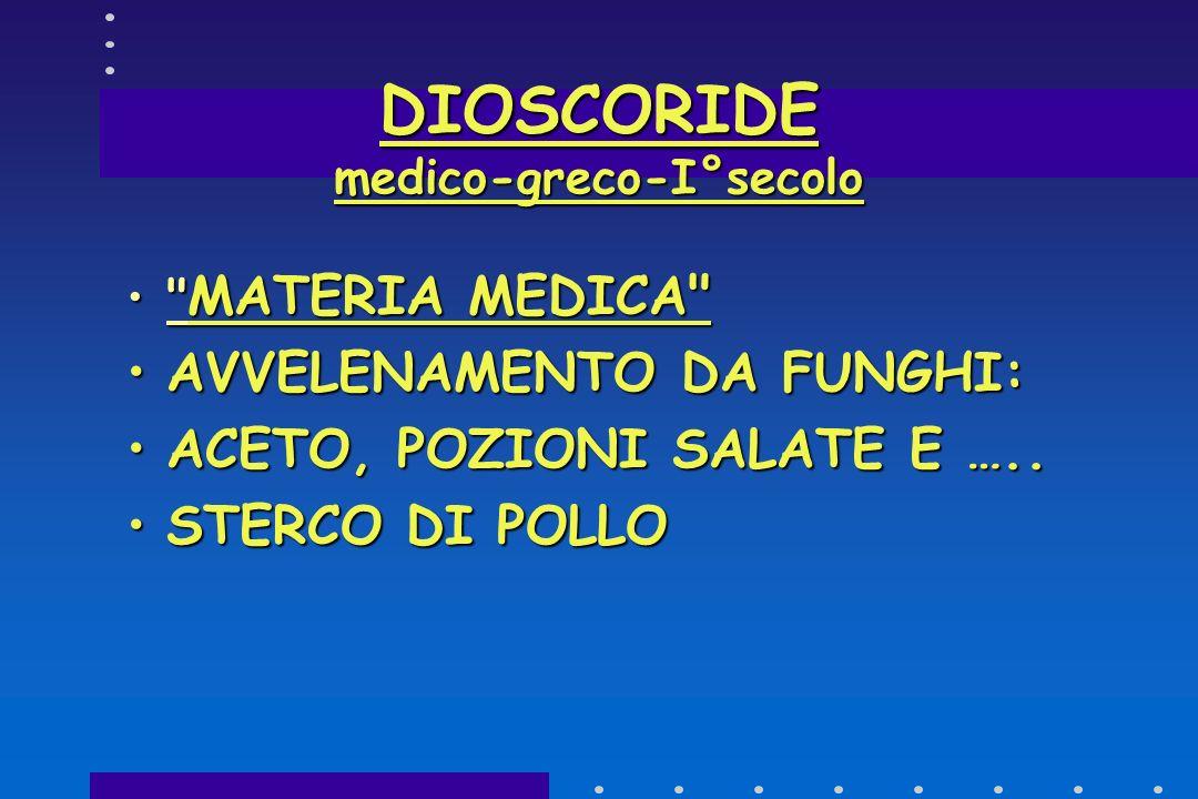DIOSCORIDE medico-greco-I°secolo