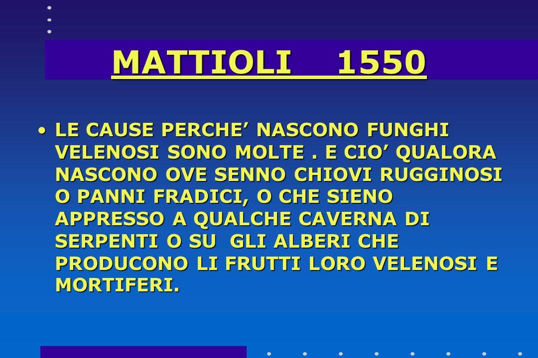 MATTIOLI 1550