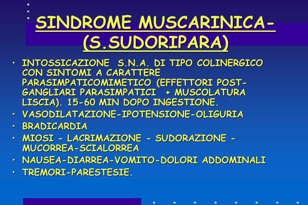 SINDROME MUSCARINICA-(S.SUDORIPARA)