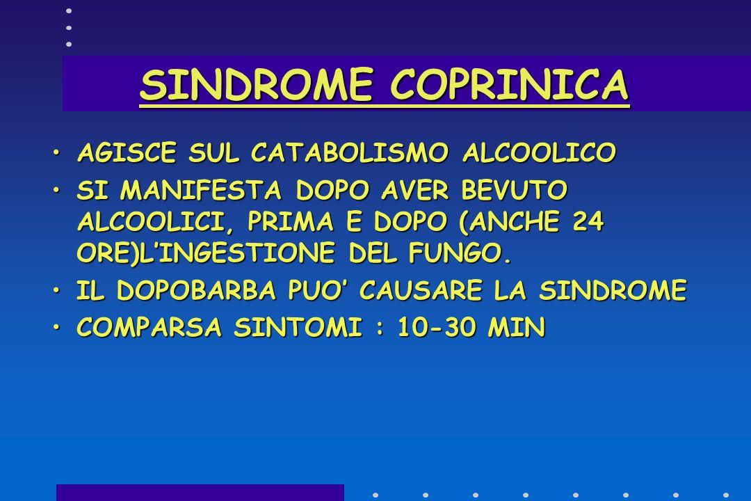 SINDROME COPRINICA AGISCE SUL CATABOLISMO ALCOOLICO