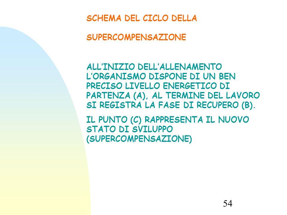 SCHEMA DEL CICLO DELLA SUPERCOMPENSAZIONE