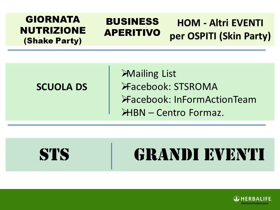 HOM - Altri EVENTI per OSPITI (Skin Party)