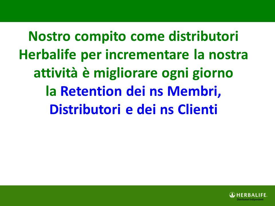 la Retention dei ns Membri, Distributori e dei ns Clienti