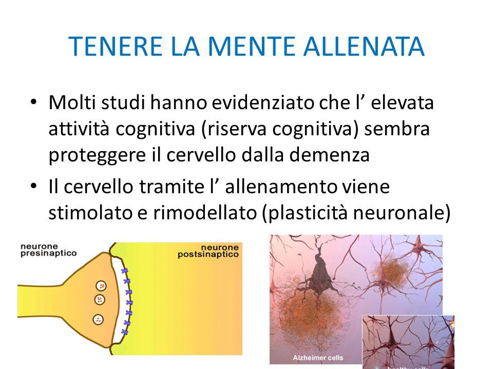 TENERE LA MENTE ALLENATA