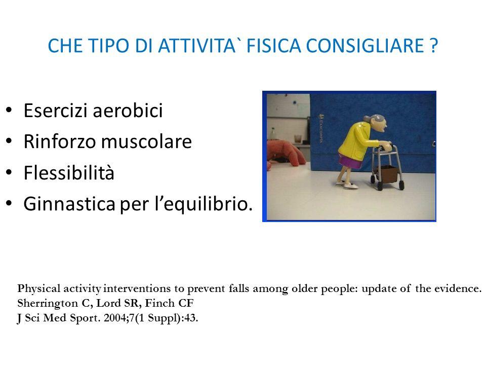 CHE TIPO DI ATTIVITA` FISICA CONSIGLIARE